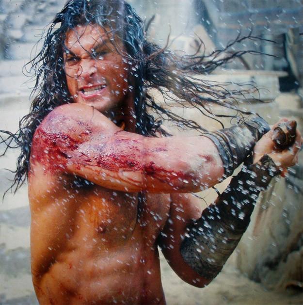 Scene di lotta per Jason Momoa in Conan