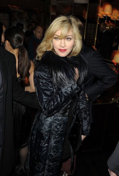 Madonna all'after party per la proiezione di A Single Man di Tom Ford (2009)