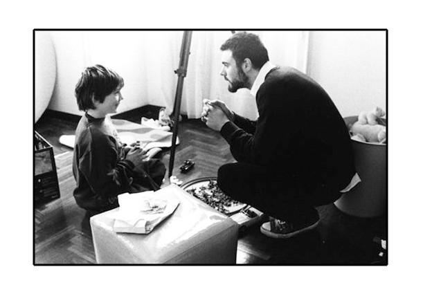Mauro Mancini sul set de Il Nostro Segreto