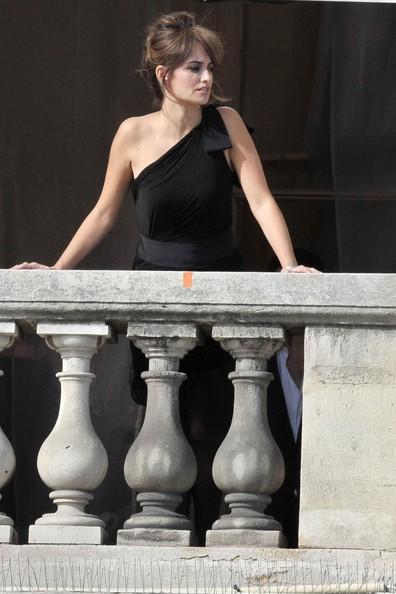 Penelope Cruz sul set di un servizio fotografico per Lancome, firmato da Mario Testino