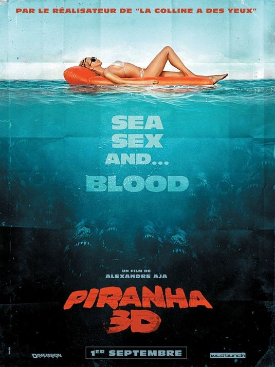 Poster francese in stile vintage per Piranha 3D