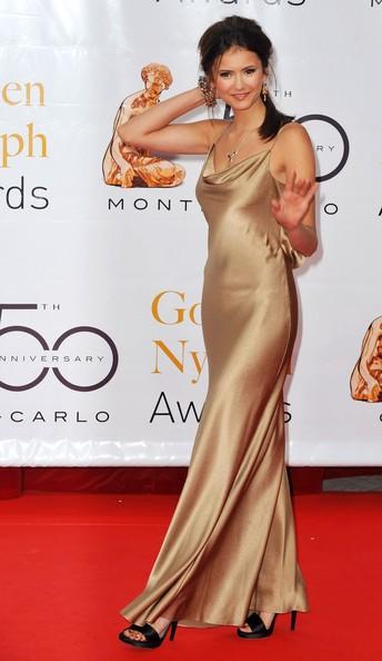 Nina Dobrev tutta in oro per il Monte Carlo Television Festival 2010