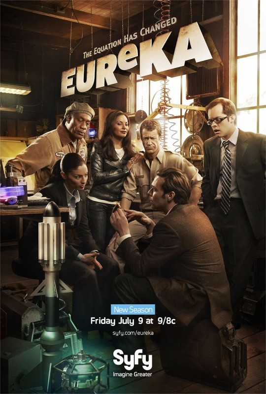 Un poster della stagione 4 di Eureka