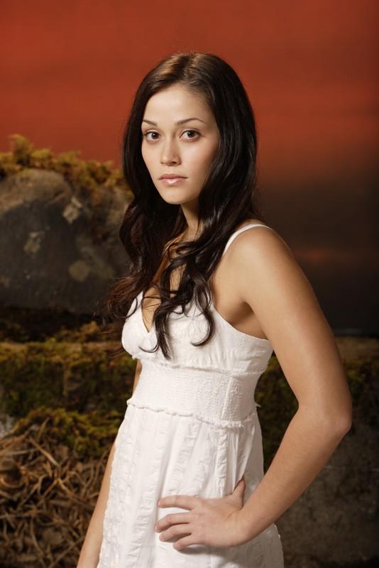 Fernanda Andrade in una foto promo per il film tv Angeli caduti