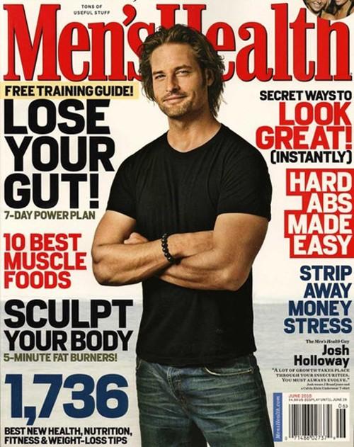 Josh Holloway sulla copertina di Men's Health