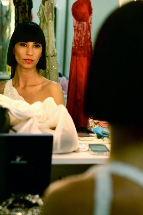 Marcela Guevara sul set