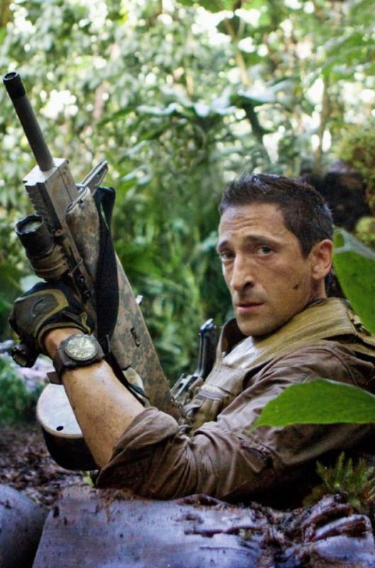 Adrien Brody coi muscoli di Royce nel film Predators