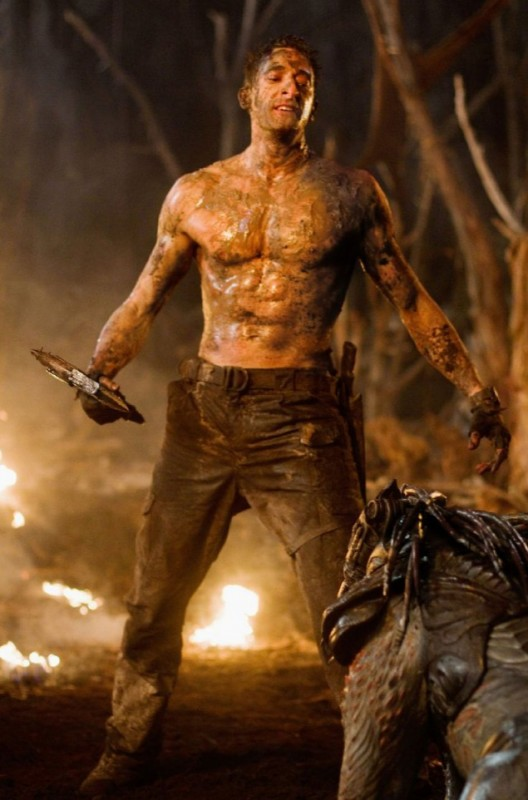 Adrien Brody nel ruolo del leader nel film Predators