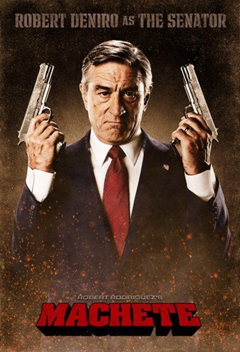 Character Poster per Machete - Robert De Niro