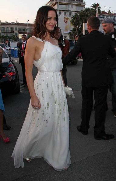 Emily Blunt al suo arrivo al Festival di Cannes