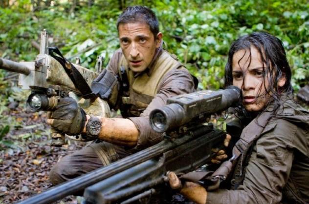 Royce (Adrien Brody) e Isabelle (Alice Braga) combattono per la sopravvivenza in Predators