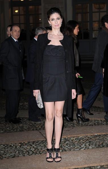 Anna Valle durante la settimana della moda, a Milano