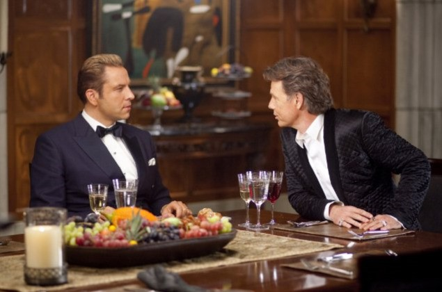 Bruce Greenwood e David Walliams in una scena di Dinner for Schmucks