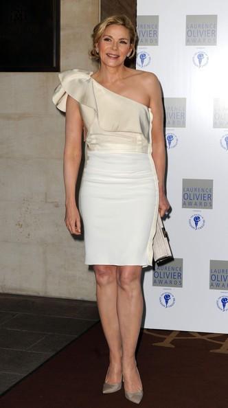 Kim Cattrall, elegantissima ai Laurence Olivier Awards