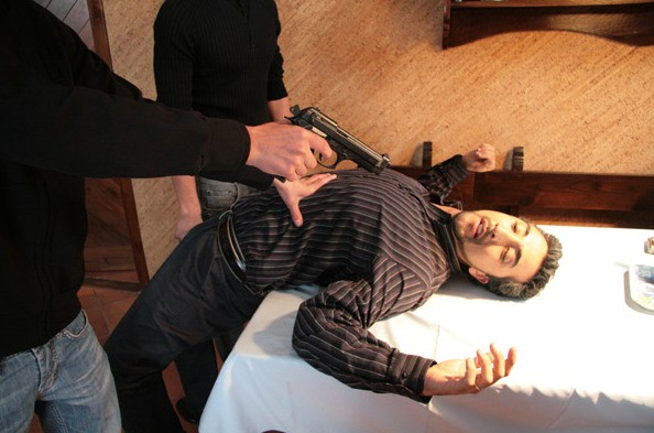 Un'immagine di Renato Solpietro dal film Prigioniero di un segreto