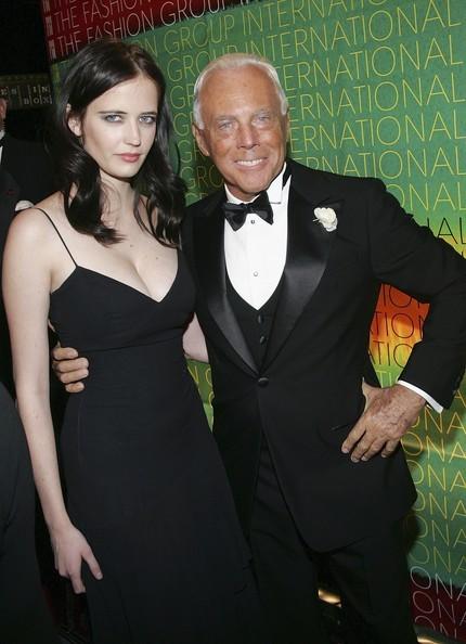 Eva Green con Giorgio Armani nel 2004