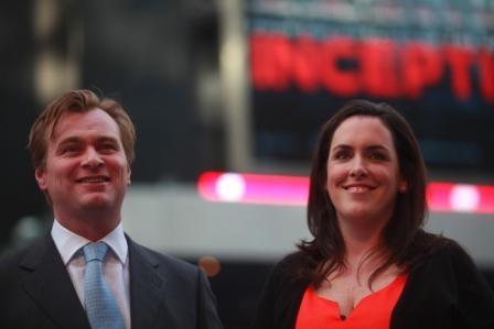 Il regista Christopher Nolan alla premiere americana del suo Inception