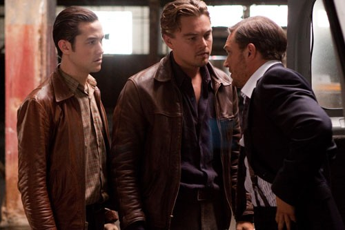 Joseph Gordon-Levitt, Leonardo DiCaprio e Tom Hardy nel film Inception