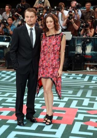 Leonardo DiCaprio e Marion Cotillard alla premiere americana di Inception