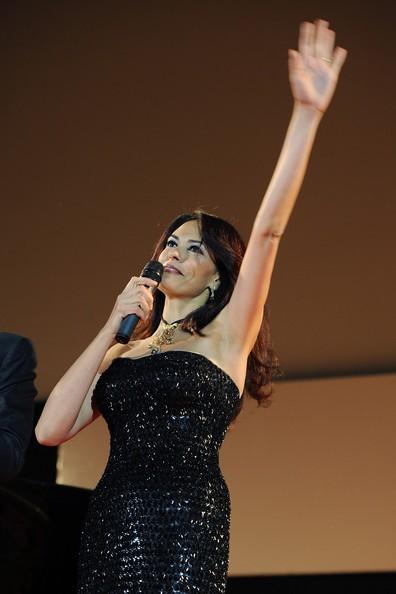 Maria Grazia Cucinotta a Taormina, nel 2010