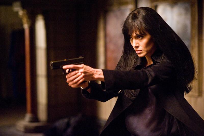 Angelina Jolie nel ruolo di Evelyn nel film Salt