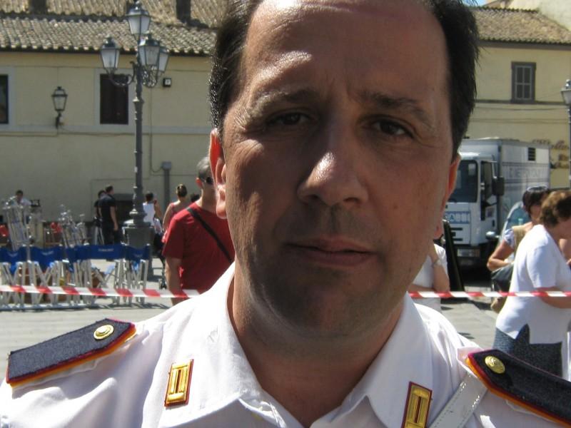 Stefano Simondo sul set di uno spot Sky ambientato a Bracciano.