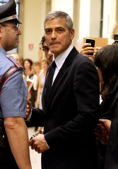 George Clooney al Tribunale di Milano