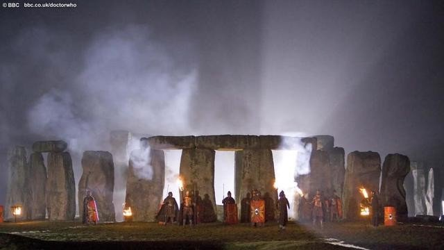 Stonehenge in una scena dell'episodio Pandorica Opens di Doctor Who