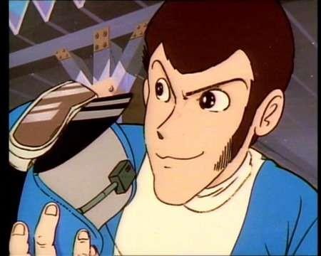 Il ladro Lupin III in una scena dell\'episodio Trappola su quattro ruote de Le avventure di Lupin III