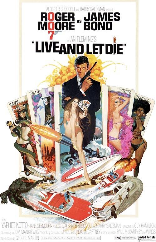 Locandina americana ufficiale di Agente 007 - Vivi e lascia morire