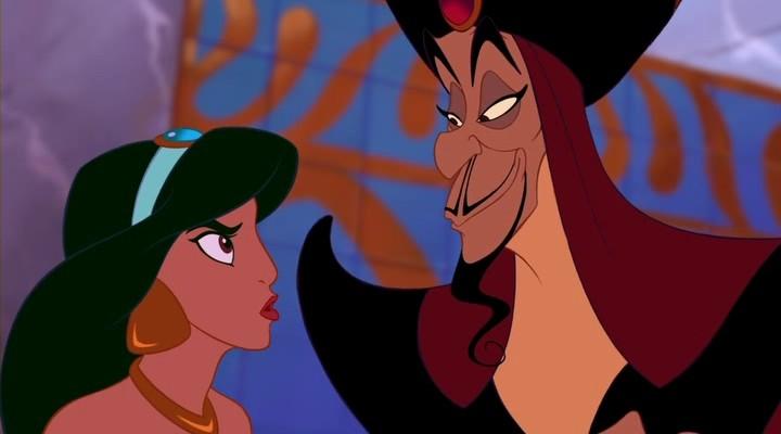 Una scena del film d\'animazione Aladdin del 1992