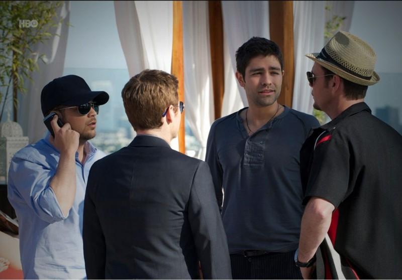 Adrian Grenier, Kevin Connolly, Kevin Dillon e Jerry Ferrara nell'episodio Buzzed di Entourage
