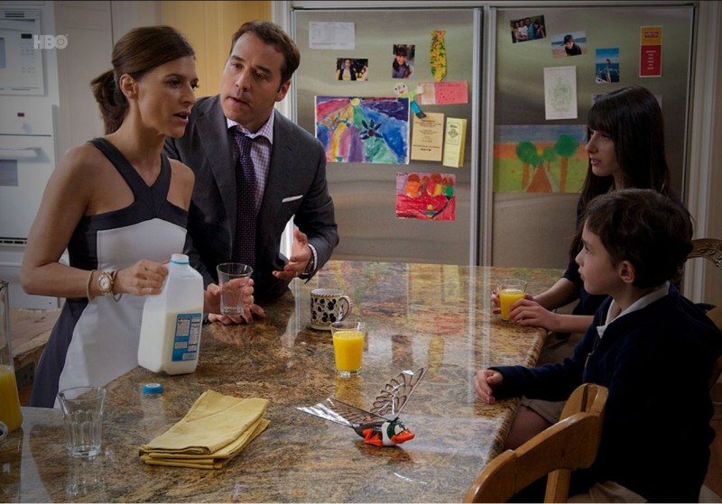 Jeremy Piven, Perrey Reeves, Lucas Ellin e Cassidy Lehrman nell'episodio Dramedy di Entourage