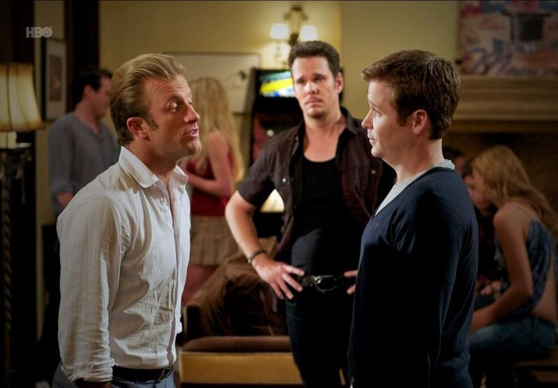 Kevin Connolly, Kevin Dillon e Scott Caan nell'episodio Dramedy di Entourage