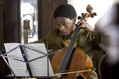 Il giovane Justin Martin nel film The Soloist