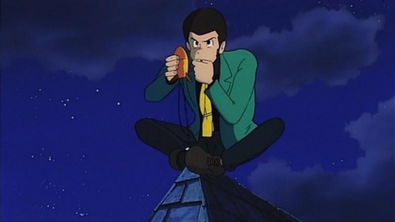 Il ladro Lupin III in una scena del film d\'animazione Lupin III: Il castello di Cagliostro