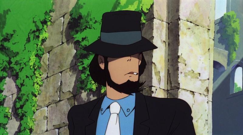 Jigen in una scena del film d\'animazione Lupin III: Il castello di Cagliostro