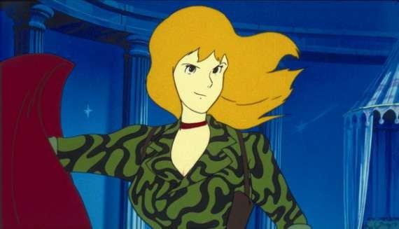 La bella Fujiko in una scena del film d\'animazione Lupin III: Il castello di Cagliostro