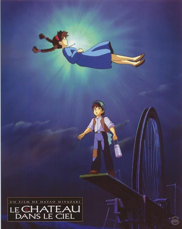 Locandina francese del film d\'animazione Laputa: Castle in the Sky