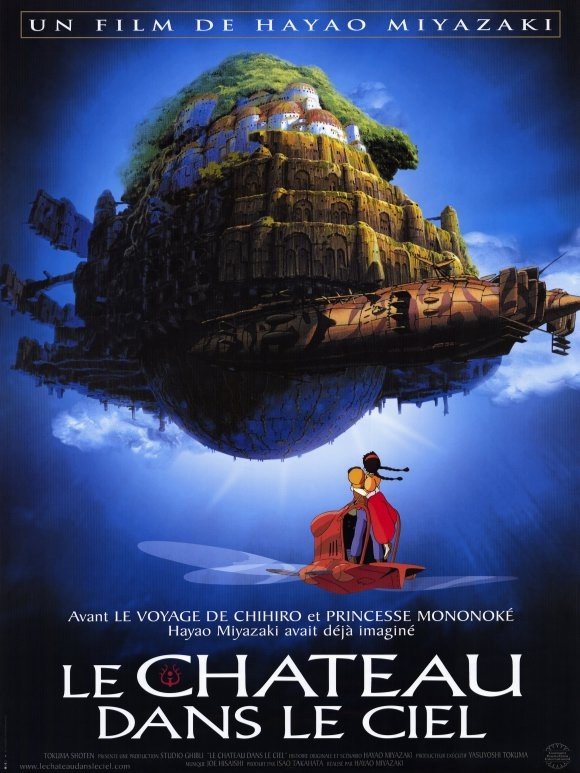 Locandina francese del film Laputa: Castle in the Sky del 1986