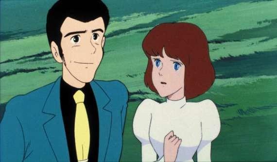 Lupin III e Clarisse in una scena del film d\'animazione Lupin III: Il castello di Cagliostro