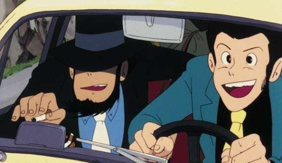 Lupin III e Jigen in una sequenza del film d\'animazione Lupin III: Il castello di Cagliostro