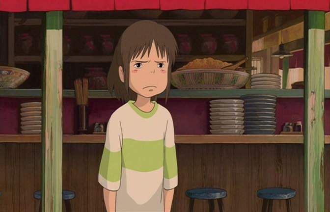 La piccola Chihiro in una scena de La città incantata - Spirited Away
