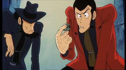 Lupin III e Jigen in una scena del film d\'animazione Lupin III - La Pietra della Saggezza
