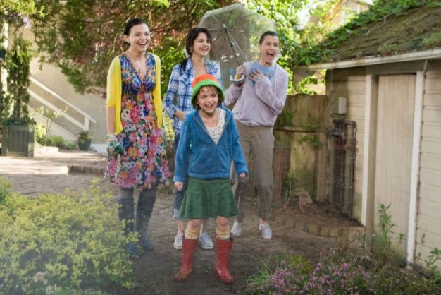 Bridget Moynahan, Ginnifer Goodwin, Selena Gomez e Joey King nella commedia Ramona and Beezus