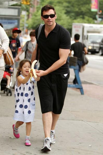 Hugh Jackman con sua figlia Ava