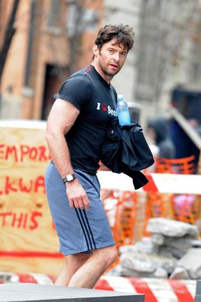 Hugh Jackman fa jogging