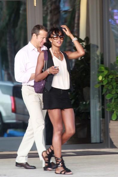 Naomi Campbell in giro con il fidanzato