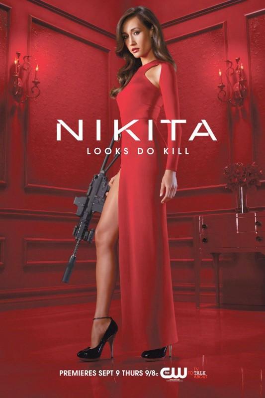 Un poster della serie CW Nikita