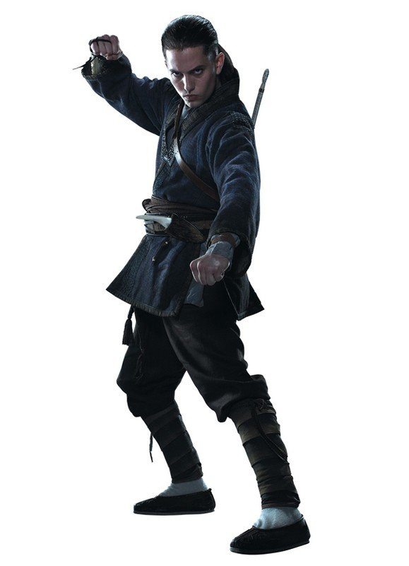 Jackson Rathbone interpreta Sokka in una foto promo per The Last Airbender